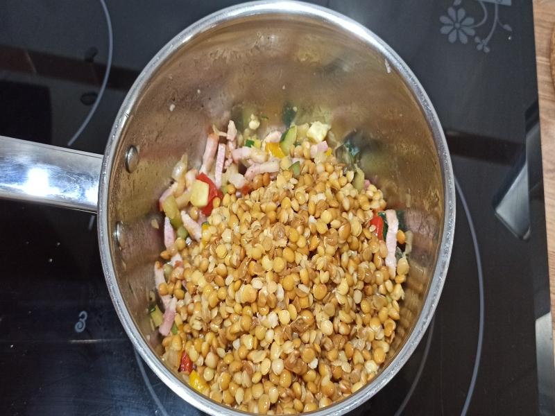 lentejas verduras-elaboración
